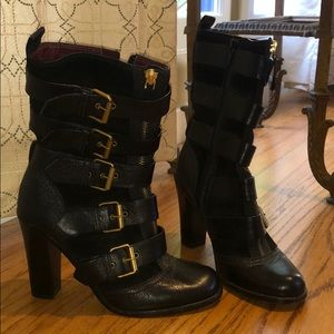 Marc by Marc Jacobs leather and suede boots